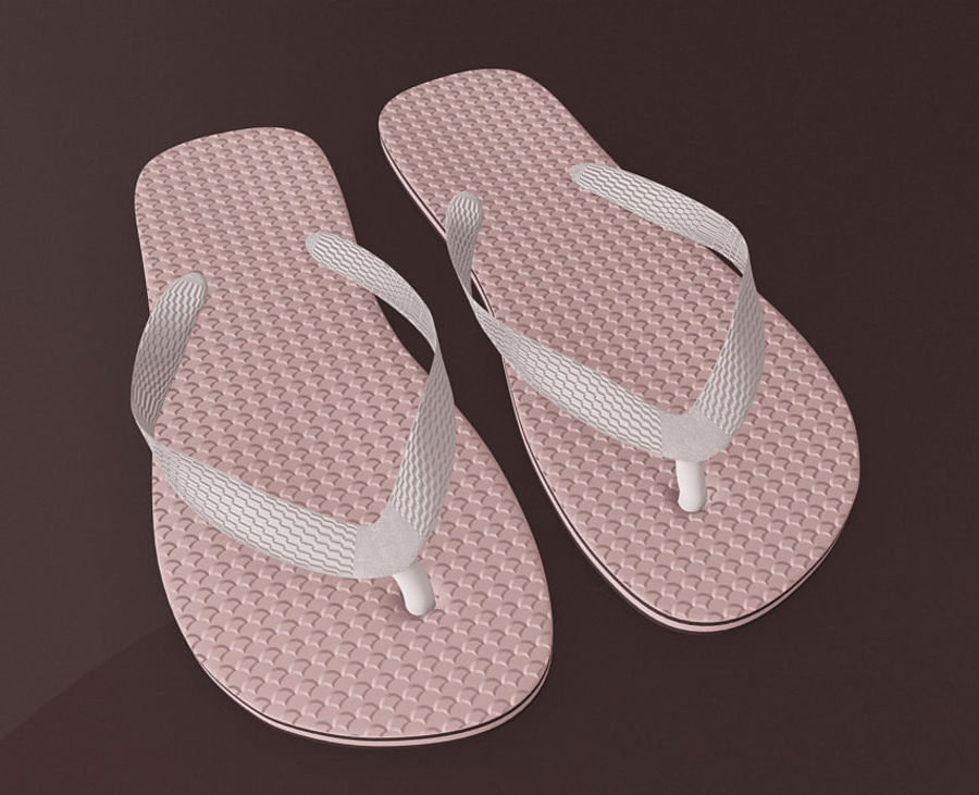 Flip-Flop Tongs royalty-free 3d model - Preview no. 6