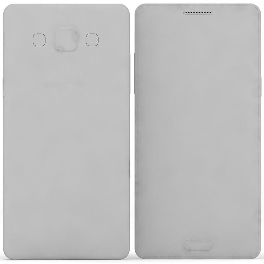 Samsung Galaxy A5 Cyan royalty-free 3d model - Preview no. 16