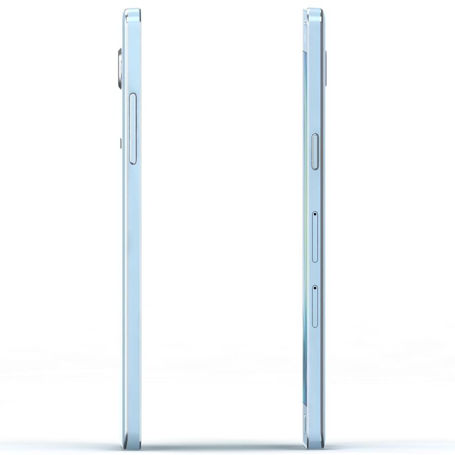 Samsung Galaxy A5 Cyan royalty-free 3d model - Preview no. 2
