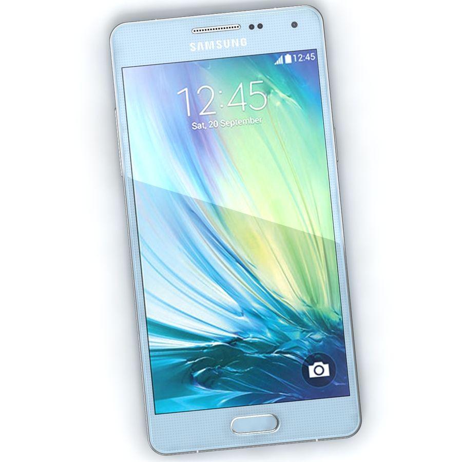 Samsung Galaxy A5 Cyan royalty-free 3d model - Preview no. 4