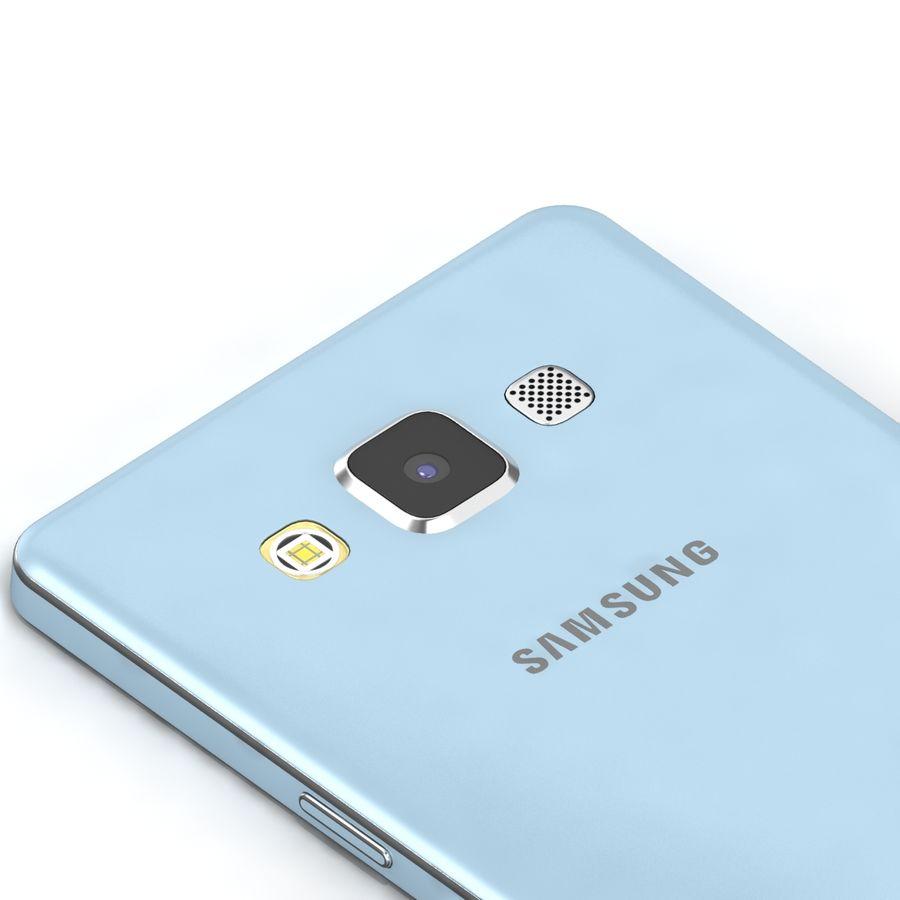 Samsung Galaxy A5 Cyan royalty-free 3d model - Preview no. 7