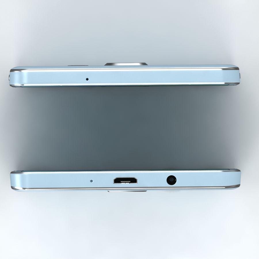 Samsung Galaxy A5 Cyan royalty-free 3d model - Preview no. 3