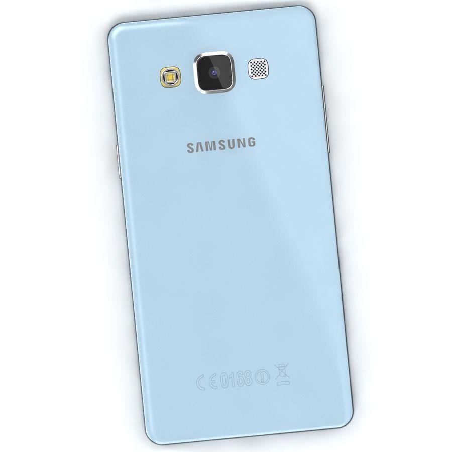 Samsung Galaxy A5 Cyan royalty-free 3d model - Preview no. 5