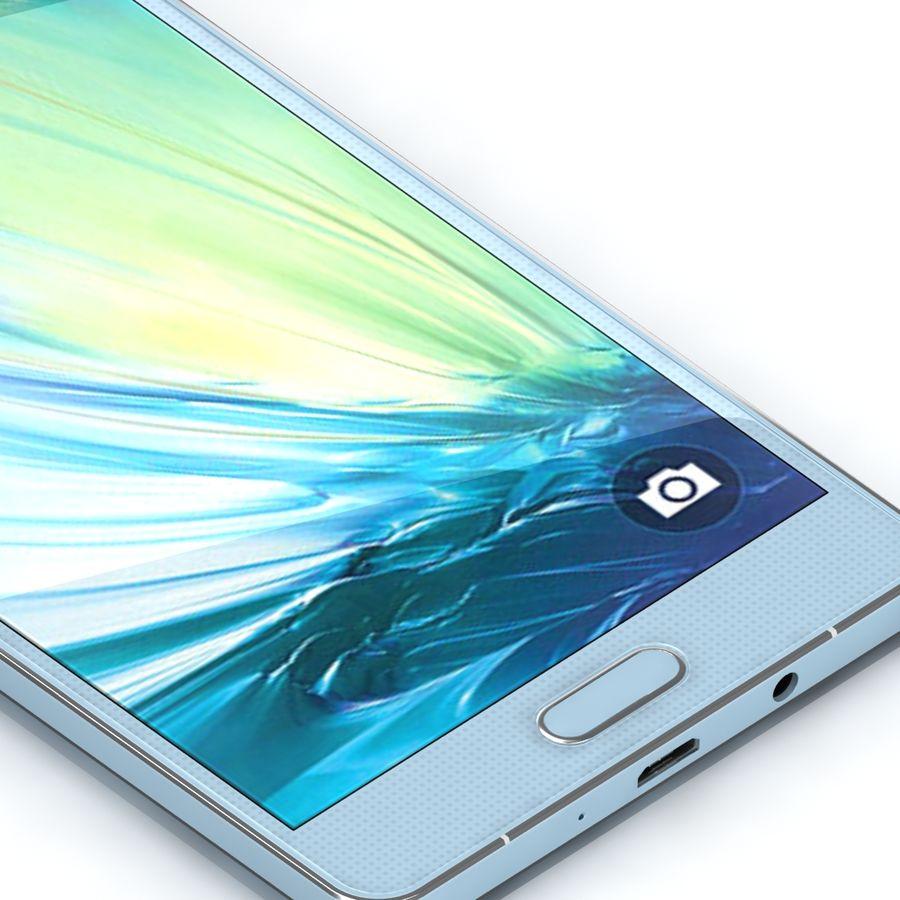 Samsung Galaxy A5 Cyan royalty-free 3d model - Preview no. 8