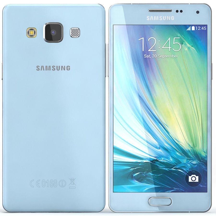 Samsung Galaxy A5 Cyan royalty-free 3d model - Preview no. 1