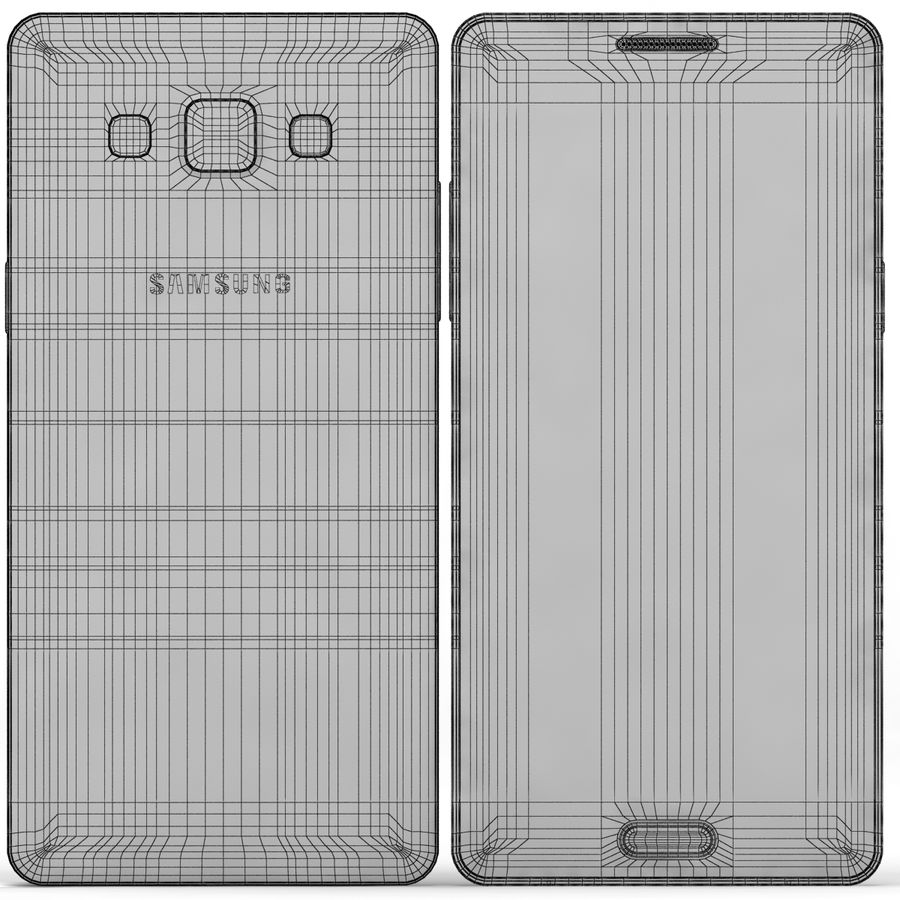 Samsung Galaxy A5 Cyan royalty-free 3d model - Preview no. 10