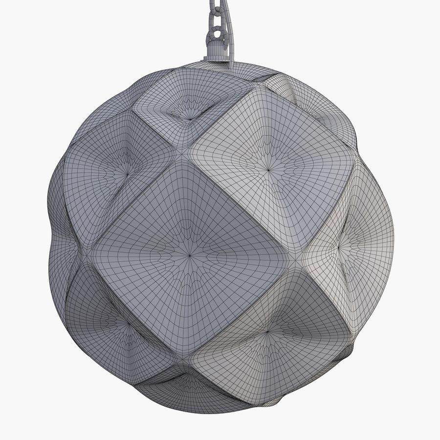 Lampa wisząca z kopułką geodezyjną Mercury Glass royalty-free 3d model - Preview no. 3