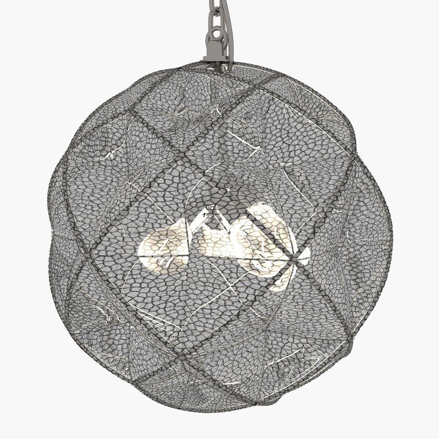 Lampa wisząca z kopułką geodezyjną Mercury Glass royalty-free 3d model - Preview no. 2