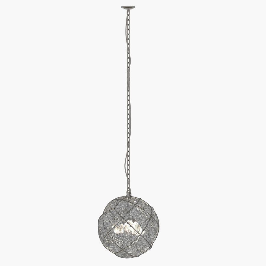 Lampa wisząca z kopułką geodezyjną Mercury Glass royalty-free 3d model - Preview no. 4