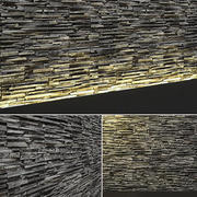 3D Seamless Stone Wall 3d model