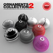 Christmas Balls Ornaments V2 3d model