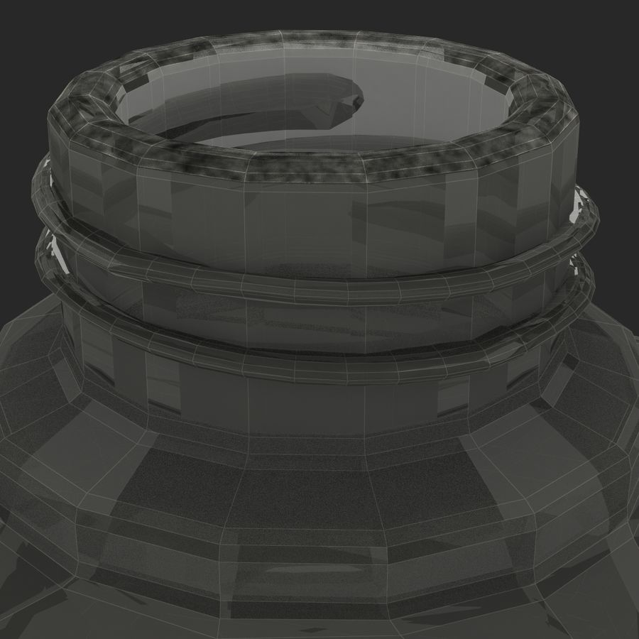 Ink Bottle royalty-free 3d model - Preview no. 14