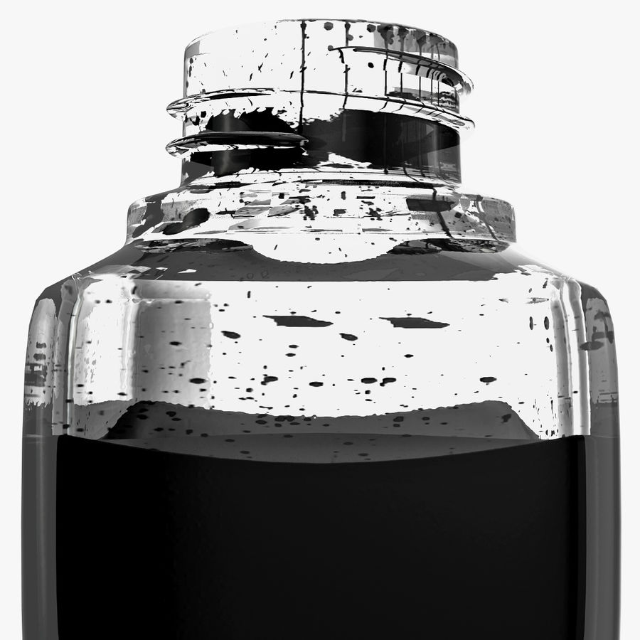 Ink Bottle royalty-free 3d model - Preview no. 9