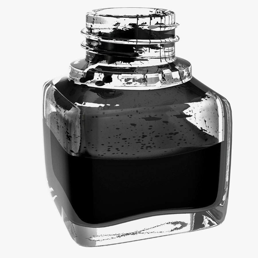 Ink Bottle royalty-free 3d model - Preview no. 2