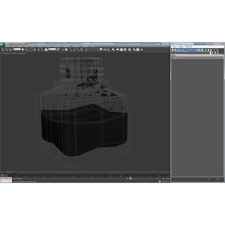Ink Bottle royalty-free 3d model - Preview no. 18