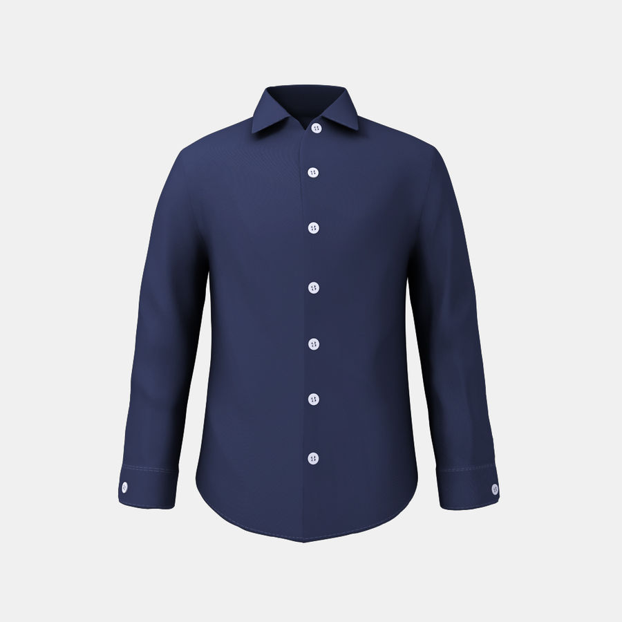 dark blue shirt royalty-free 3d model - Preview no. 1
