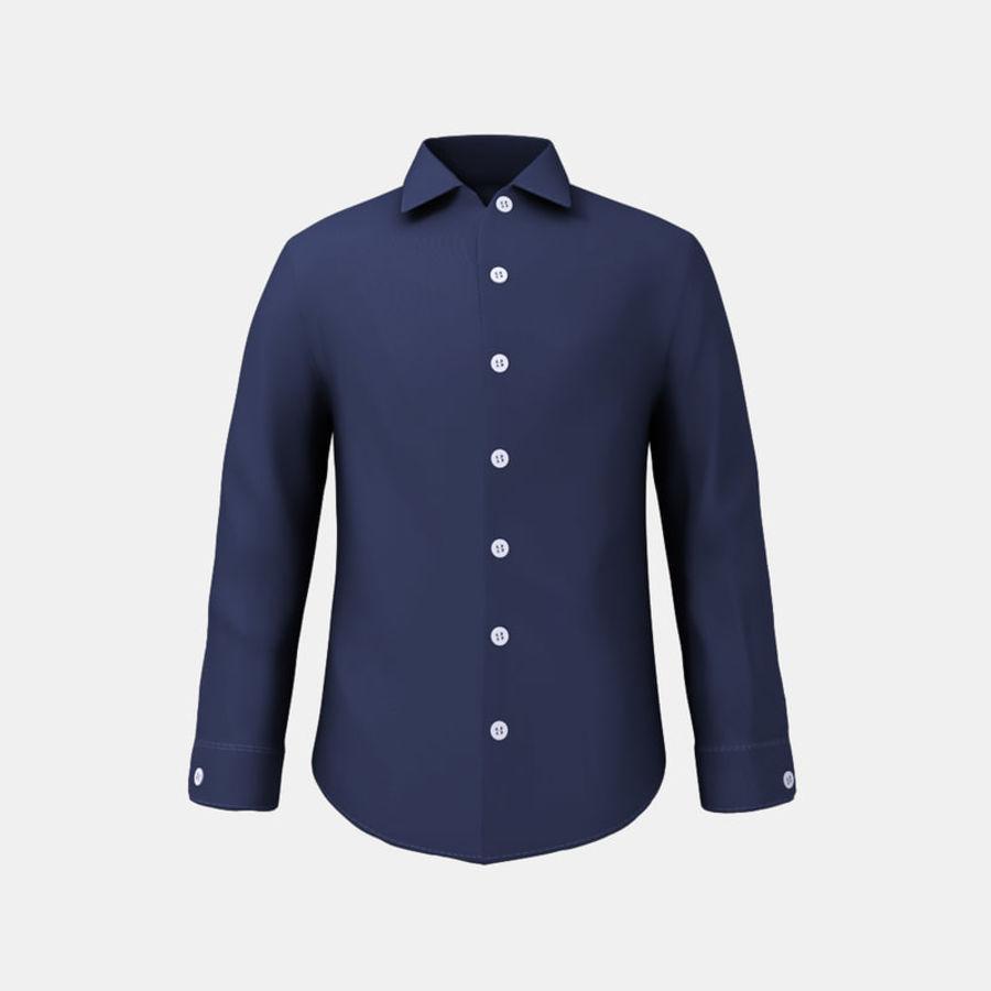 camicia blu scuro royalty-free 3d model - Preview no. 1