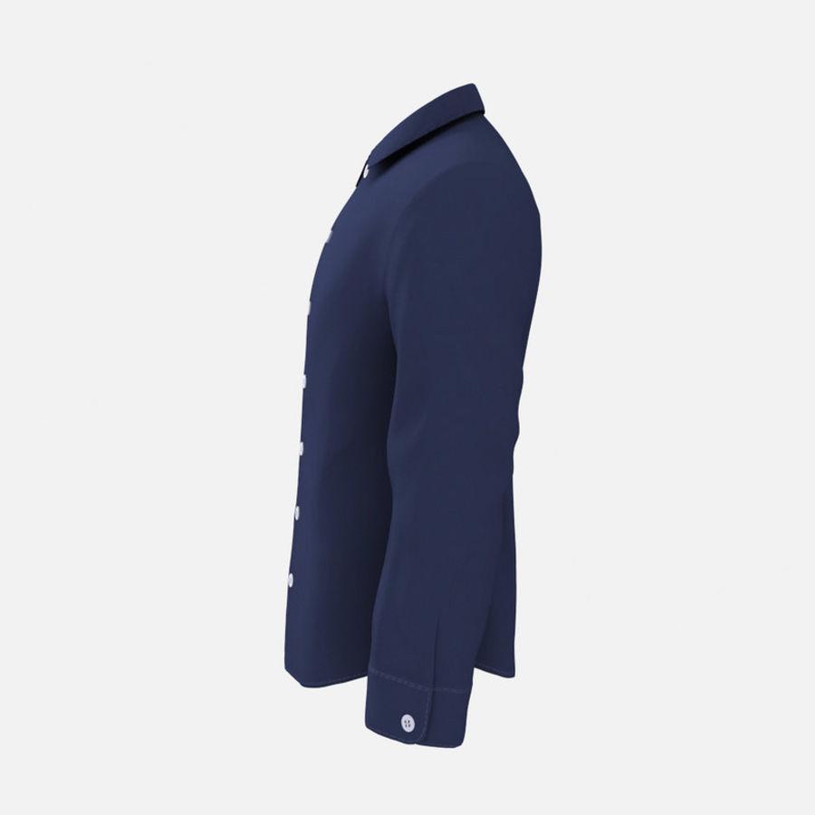 camicia blu scuro royalty-free 3d model - Preview no. 3