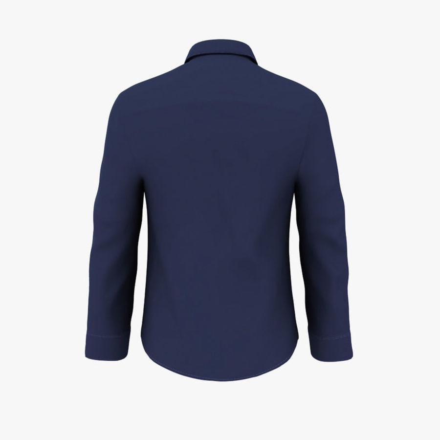 camicia blu scuro royalty-free 3d model - Preview no. 4