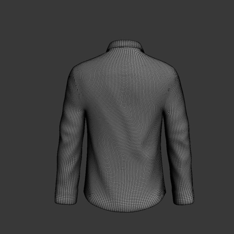 camicia blu scuro royalty-free 3d model - Preview no. 9