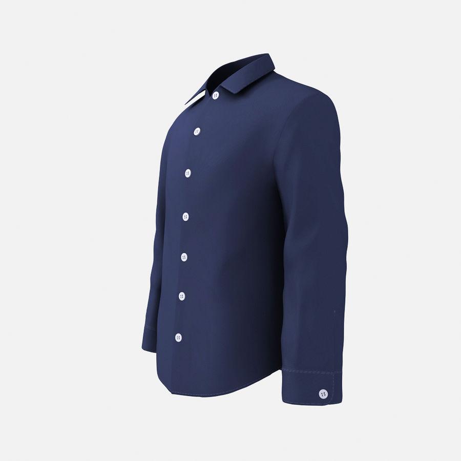 dark blue shirt royalty-free 3d model - Preview no. 2
