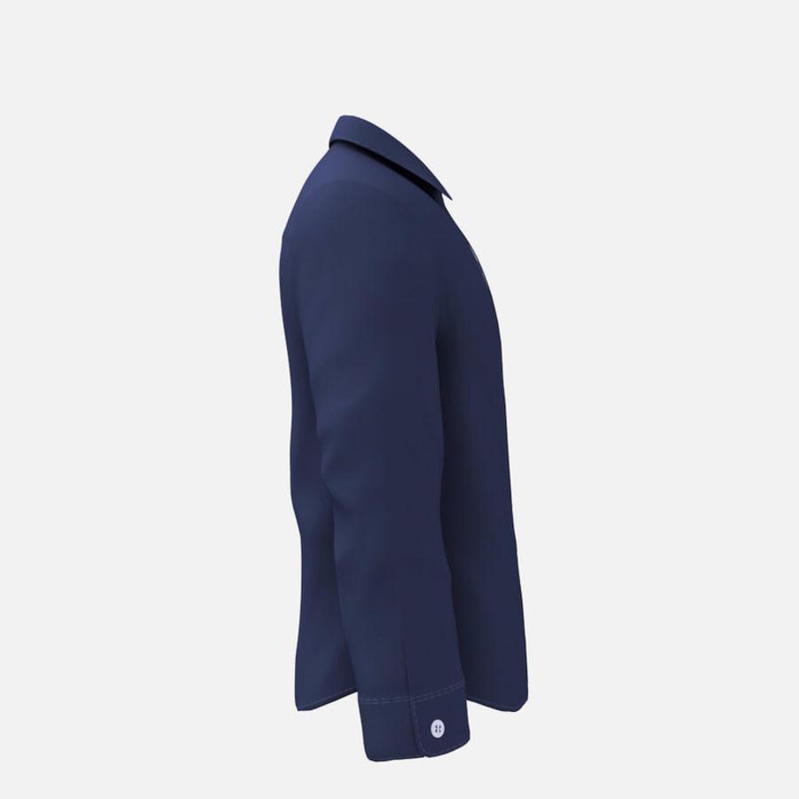 camicia blu scuro royalty-free 3d model - Preview no. 5