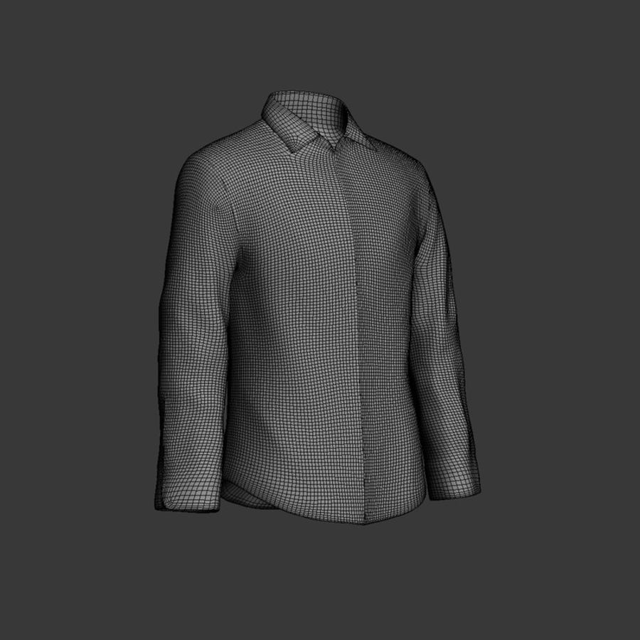 camicia blu scuro royalty-free 3d model - Preview no. 8