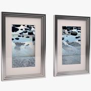 Art Frame 3-Tier Chrome 3d model