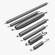 Metalen veren 3d model
