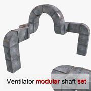 송풍기 샤프트 모듈 형 시스템 3d model
