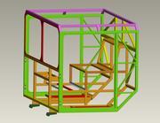 금속 프레임 객실 방공 미사일 시스템. 기밀 3d model