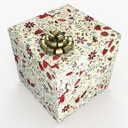 クリスマスBOXアート 3d model