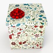 Christmas BOX Stängd konst 3d model