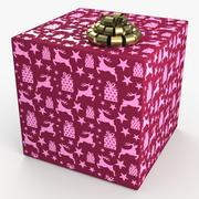 Christmas BOX deer 3d model
