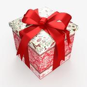 Christmas BOX Closed Ribbon wool 3d model