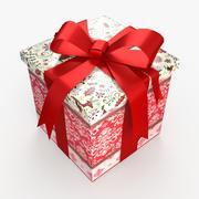 Christmas BOX Zamknięta wełna wstążkowa 3d model