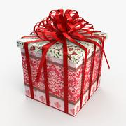 Christmas BOX Ribbon Ribbon2 wełna 3d model