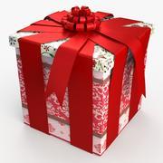 Christmas BOX taśmy zamknięte wełny 3d model
