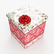Christmas BOX Zamknięta wełna 3d model