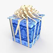 Christmas BOX Closed3 Ribbon2 wełna 3d model