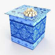 Christmas BOX Closed 3 wełna 3d model