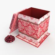 Christmas BOX Otwarta wełna 3d model