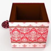 Christmas BOX Open4 wełna 3d model