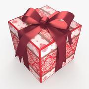 Weihnachten BOX Ribbon Wolle 3d model