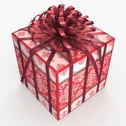 Christmas BOX Ribbon2 wełna 3d model