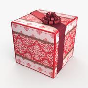 Рождество BOX Лента шерсть 3d model