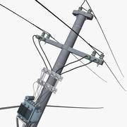电杆 3d model