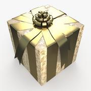 Рождество BOX Ленты крем 3d model