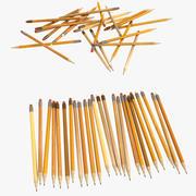 铅笔办公套装系列普通写作(2) 3d model