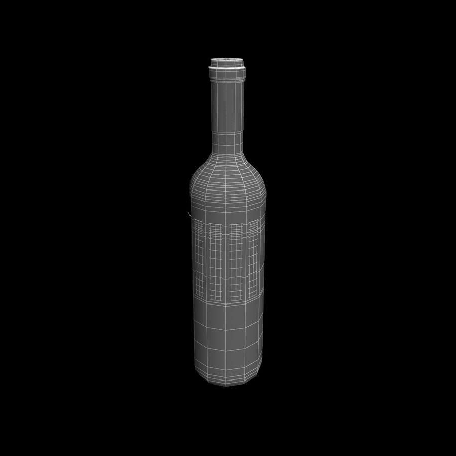 Botella de vino royalty-free modelo 3d - Preview no. 4